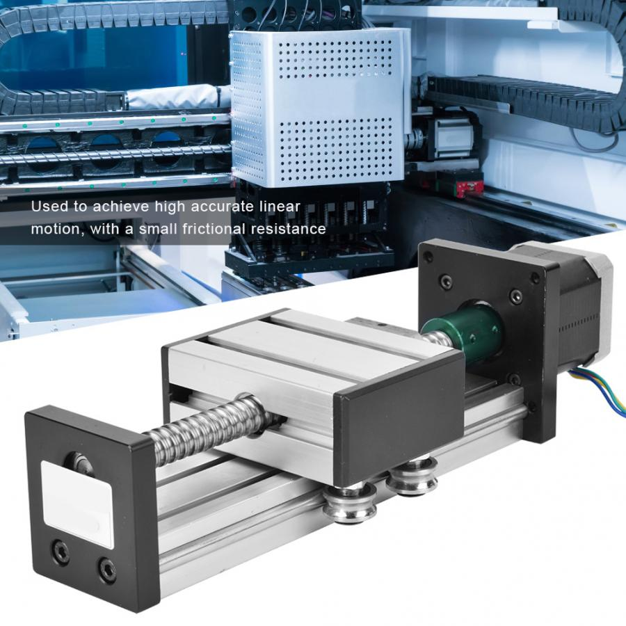 400mm Stroke Single Shaft Ball Screw Linear Guide Rail CNC Sliding Table with 42 Motor linear ball bearing