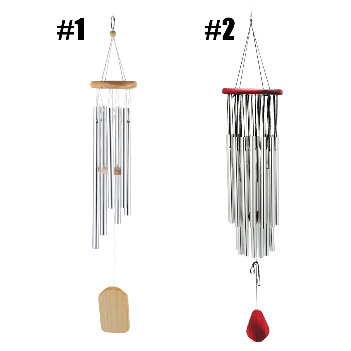 3pcs Window Garden Yard Wind Chime Home Room Decor Gifts 6 Tubes Bells