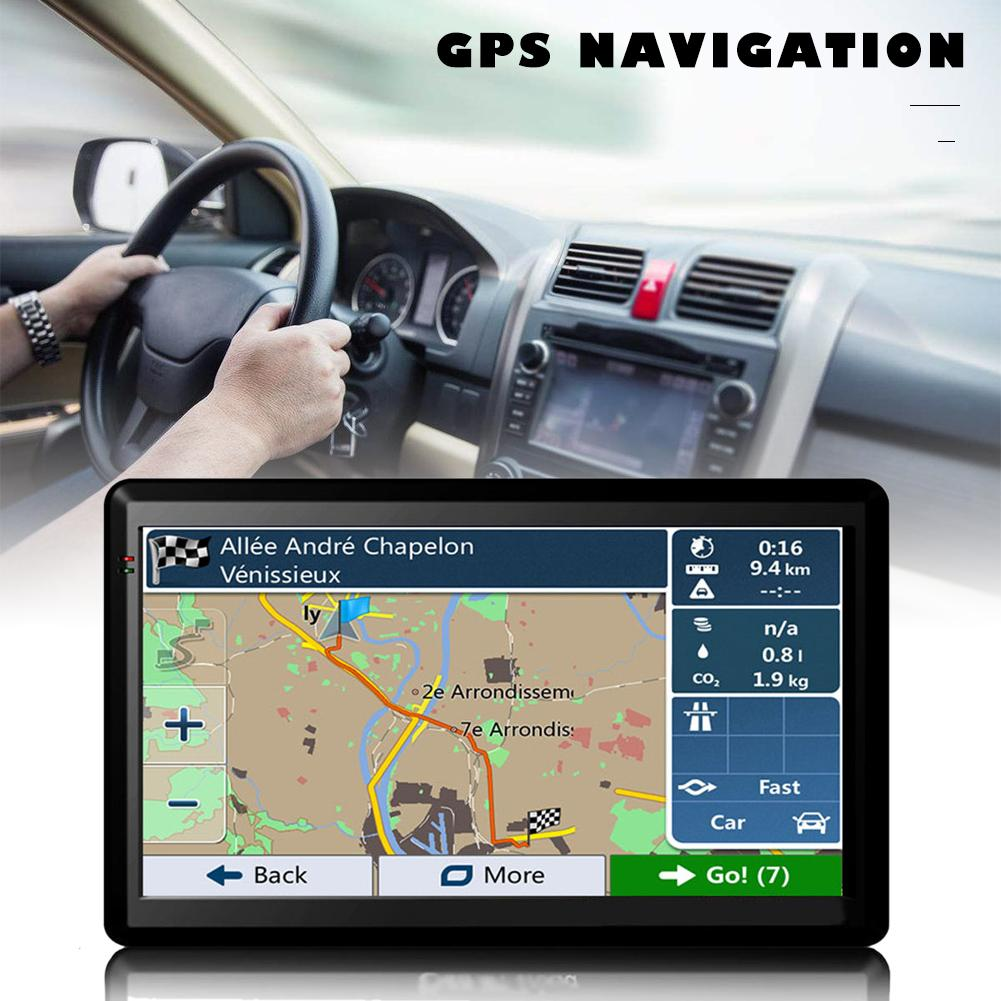 7in Car Truck GPS Navigation 256M RAM 8GB Support Russia EU Norht South America Asia Africa AU NZ Middle East Maps USB