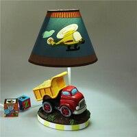 Car table lamp children bedroom bedside lamp boy room warm creative cartoon cute remote control resin decoration lamp WJB40321