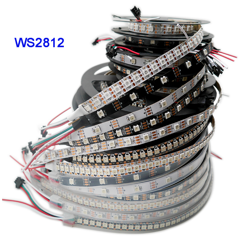 1m/3m/5m WS2812B Smart Led Strip;30/60/74/96/100/144 Pixels/leds/m;WS2812 IC;WS2812B/M;DC5V;IP30/IP65/IP67,