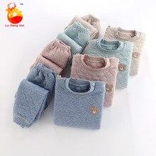 Underwear New Cotton with Thickened Autumn Girls Winter Boys Children's Three-Layer