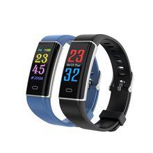 D12 Bluetooth Smart Wristbands Color Screen Heart Rate Blood Pressure Monitoring Smartband Message Reminder Smart Bracelet цена