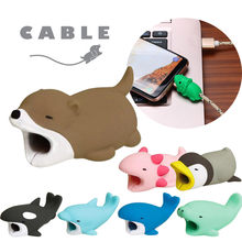 Line Bite for Iphone Cable cord Animal Phone Accessory Protects Cute Protector for for Samsung for huawei for xiaomi for tablet(China)