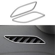 Interior del coche instrumento de ventilación de aire de salida de embellecedor de marco para Audi A4 B8 A5 2009-2016 Panel decoración cubre pegatinas adornos LHD