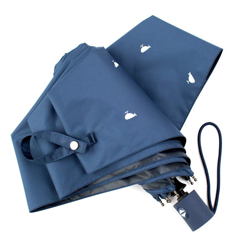 South Korea Creative All-Weather Umbrella Hipster Vinyl Folding Sun-resistant Parasol UV-Protection Parasol Fully Automatic Umbr