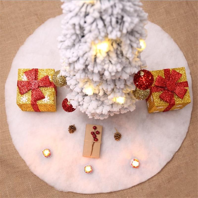 Christmas Decorations Plush Tree Skirt Solid White Hair Christmas-tree Skirt Christmas Tree Decoration Tree Skirt Accessories