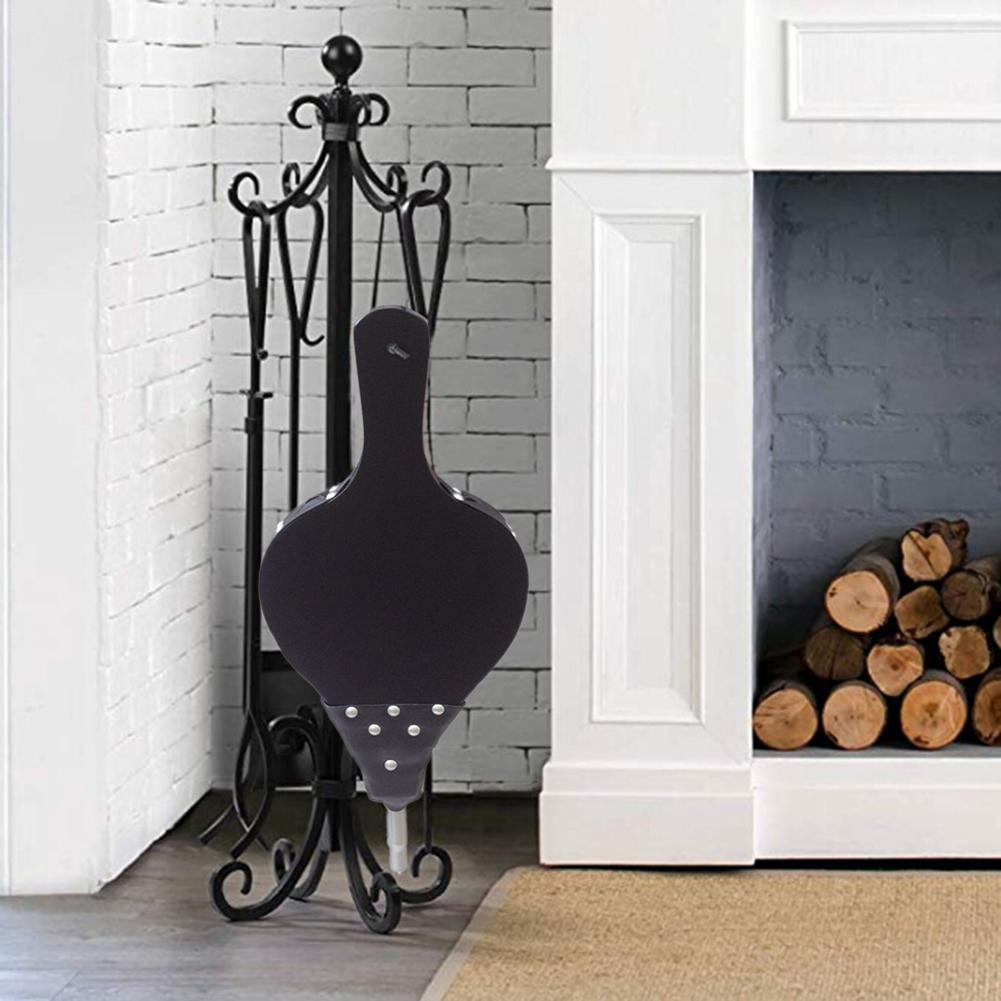 Antique Large Black Wood Blower Fireplace Bellows Manual Hair Dryer Fireplace Tool Christmas Eve Decorations