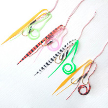 13# 50pcs Silicone Skirt Assist hook jigging Copper/Snapper Slide Parts Fishing Skirts and Rubber Tie Mule Maintenance
