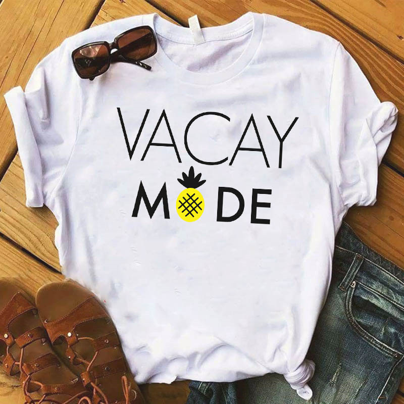 Ananas owoce odzież T-shirt moda trójnik żeński Top graficzny T koszula kobiety Kawaii Camisas Mujer ubrania 2019 5