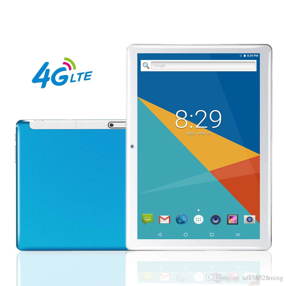 4G LTE 10.1 Inch Tablet PC Octa Core 1280*800 IPS Bluetooth RAM 6GB ROM 128GB 4G Dual Sim Card Phone Call Tablet Android 8.0 GPS