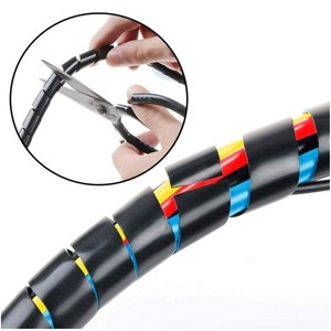 Image 3 - Spiral Cable Wrap Protector Spiral Wire Wrap Cord Tube PC Management for Computer Wire Organizer Sleeve Hose RoHS