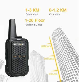 Mini Walkie Talkie Retevis RT15 Portable Two way Radio Portable Radio Communicator Walkie-Talkies 1 or 2 pcs for hotel Hunting 5