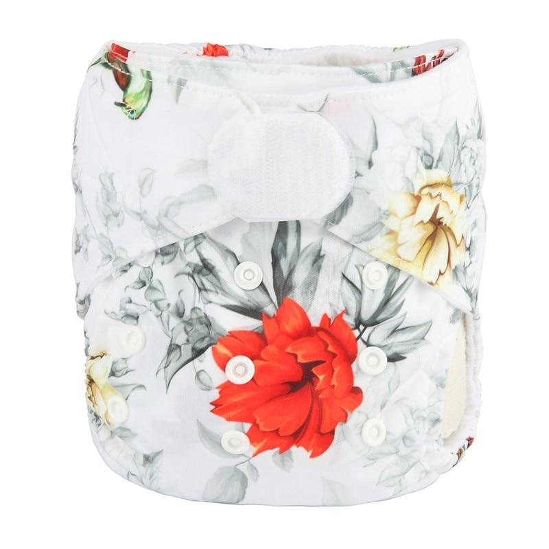 [Sigzagor] 1 тканевый подгузник с карманами для детей, подгузник с застежкой-липучкой, с широкими полосками на талии - Цвет: DV19