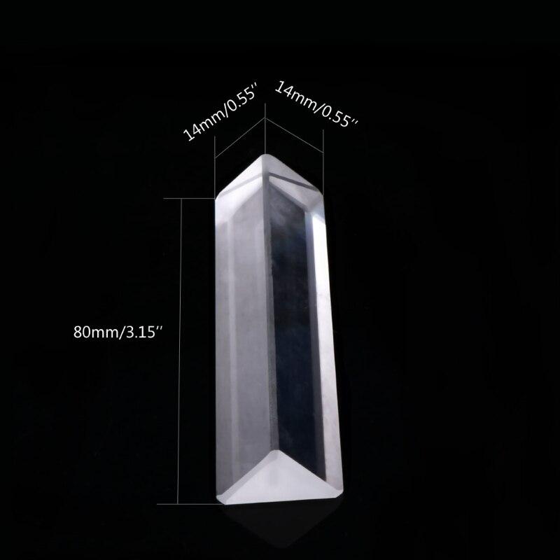 Prisma de Vidro Refletindo para o Ensino de Espectro de Luz Triangular Óptico Prisma Ângulo Direito k9 Cor