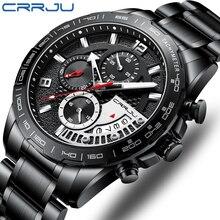 Men Watch CRRJU Classic Business Waterproof Chronograph Quar