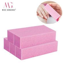 5/10 pçs conjunto de arquivo de unhas esponja bloco de buffer schuren pedicure polimento arquivo de unhas ferramentas beleza moagem nagelvijlen kit