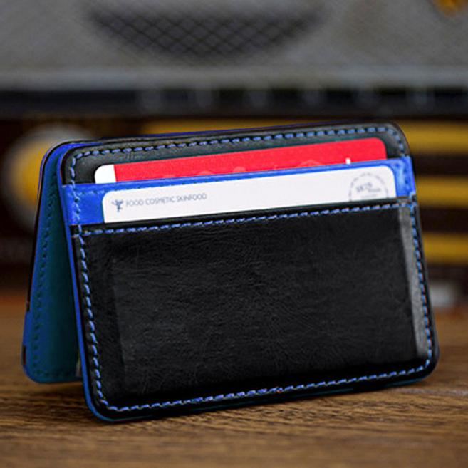 2019 New Card Package Mini Neutral Magic Bifold Leather Wallet Card Holder Wallet Purse Things Wallet#20