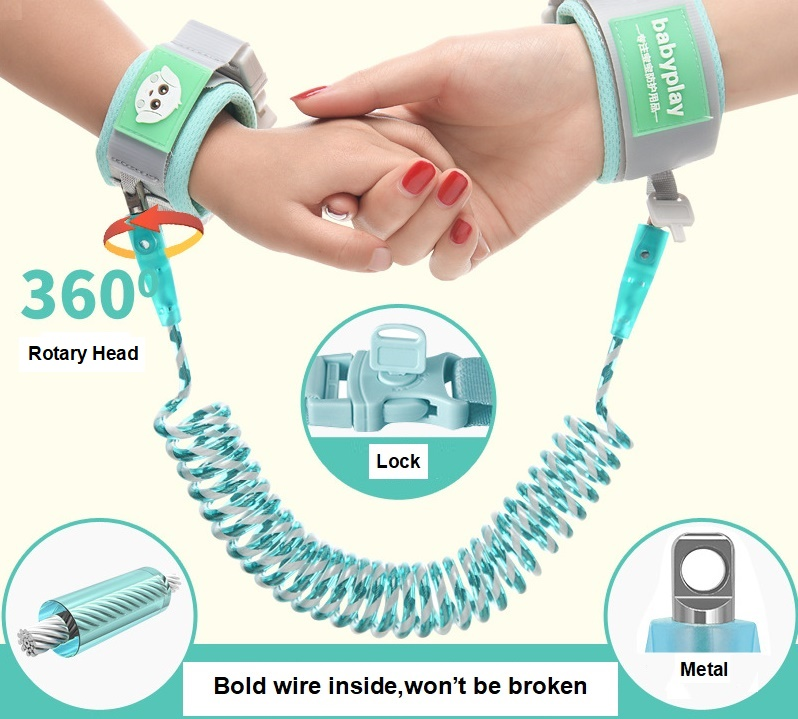Outdoor Walking Hand Belt Band Anti-lost Wristband Kids Anti Lost Wrist Link Toddler Leash Safety Harness For Baby Strap Rope