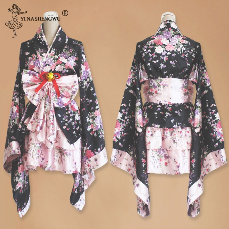 Short <font><b>Anime</b></font> Cosplay Japanese Kimono Lolita <font><b>Costume</b></font> Red Women Children <font><b>Sexy</b></font> Gothic <font><b>Halloween</b></font> <font><b>Costumes</b></font> For Women Dress Plus Size image