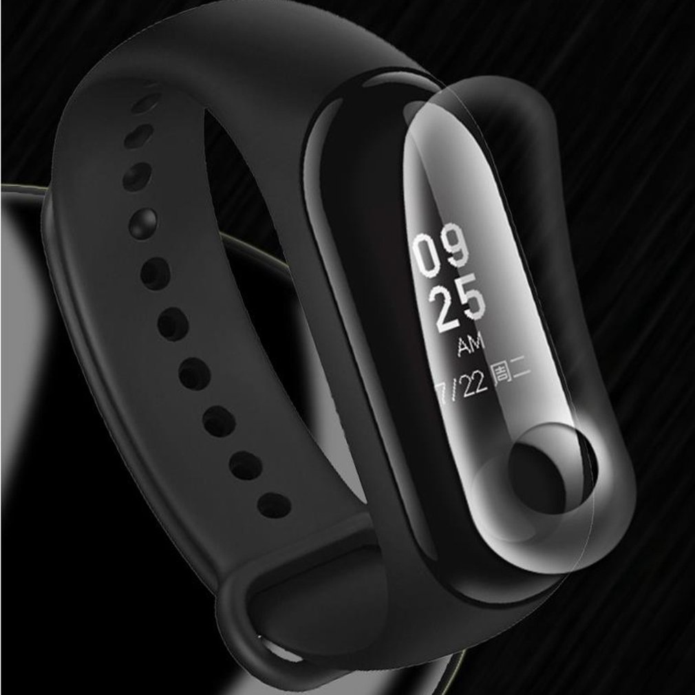 For Xiao Mi Mi Band 3 Screen Protector Film Intelligent Cover Bracelet Full Untempered Bracelet Protective Glass Films