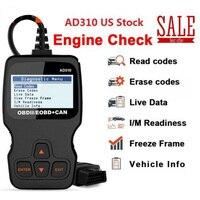 For Ancel AD310 EOBD OBD2 Scanner Diagnostic Tool 611677788797 Support multi language Car Check Engine Fault Code Reader