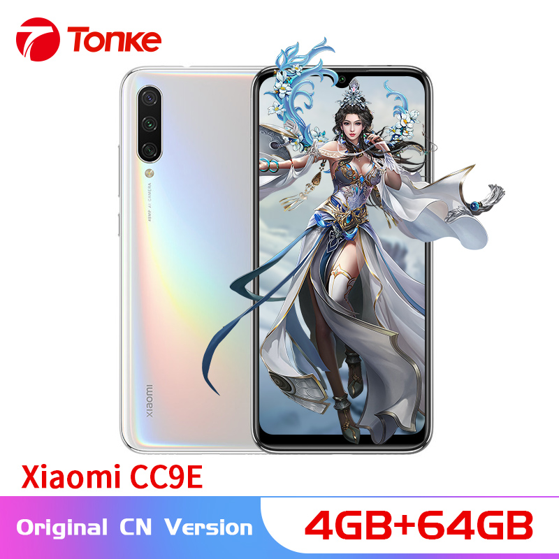 "Original Xiaomi Mi CC9e 4GB RAM 64GB ROM Mobile Phone Snapdragon 665 Octa Core 48MP+32MP Camera 6.088"" AMOLED Screen MIUI 10"