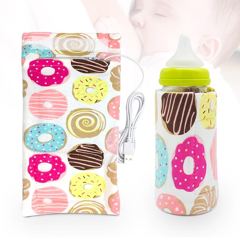 Baby Milk Warmer Nursing Bottle Heater Travel Stroller Bag 5V/1A USB Milk Water Warmer Insulated Bag 11inx5.12in