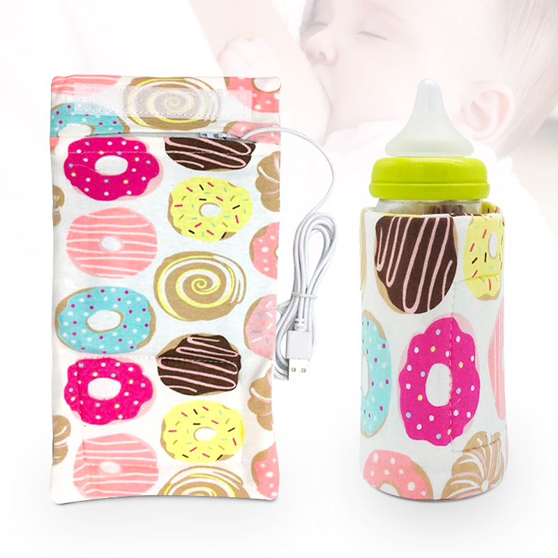 Baby Milk Warmer Nursing Bottle Heater Travel Stroller Bag 5V/1A USB Milk Water Warmer Insulated Bag 11inx5.12in(China)