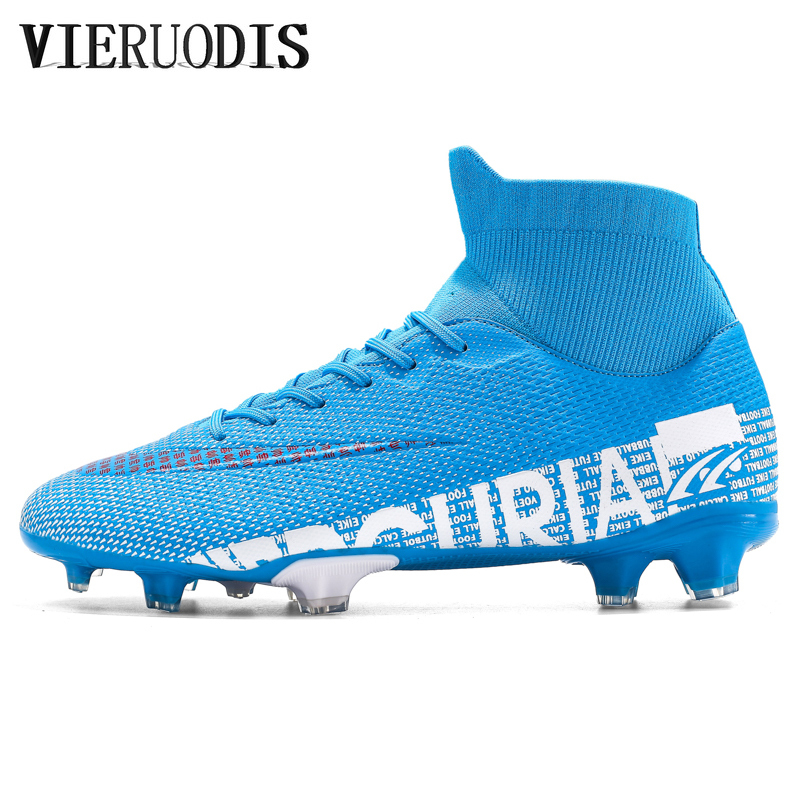 Soccer Cleats Football-Shoes Explosive-Models High-Top Adult Student title=