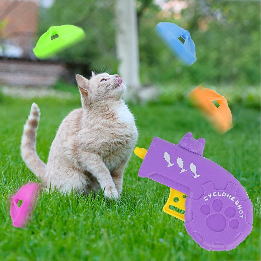 Для домашних питомцев, подарочный набор игрушек для кошек, погоня за летающими пропеллерами, блюдцами, для собак, для домашних животных, инт...