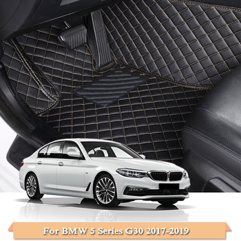 Car Styling Car Floor Mat For BMW 5 Series G30 2017-2019 5 Seats LHD Auto Foot Pad Automobile Carpet Cover Internal Accessories