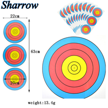 15pcs Paper Target Shooting Targets Diameter 20cm 3 Targets on A Piece of Paper Hunting Archery Arrow Training Shoot Accessories