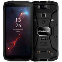 Conquête S12 Pro téléphone portable extérieur P70 Android 9.0 8000mAh IP68 étanche 5.99 FHD NFC DMR talkie-walkie robuste Smartphone