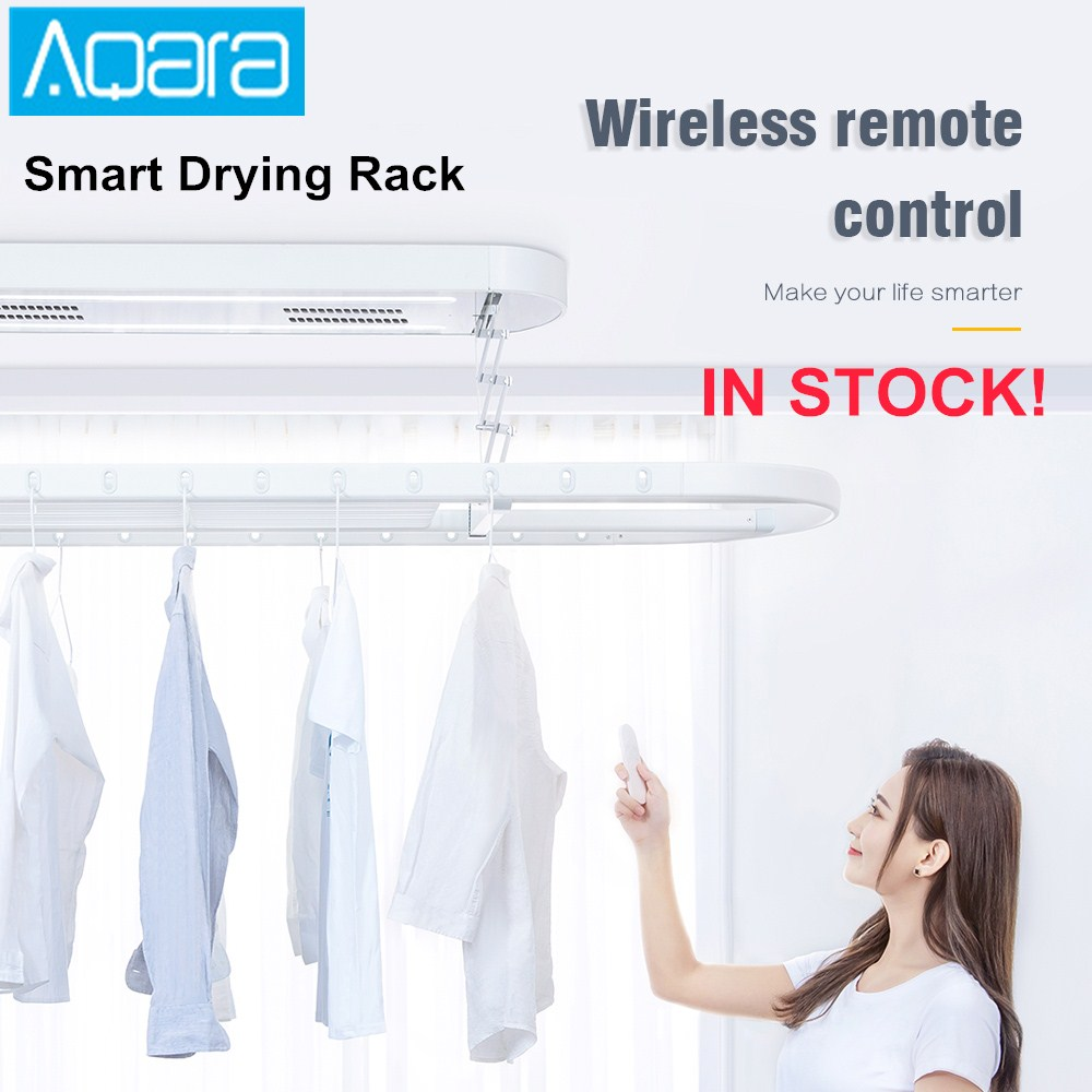 Aqara Smart Drying Rack Remote Control Automatic Lifting Air Indoor 35kg Loading Mi Home APP Intelligent Linkage Control