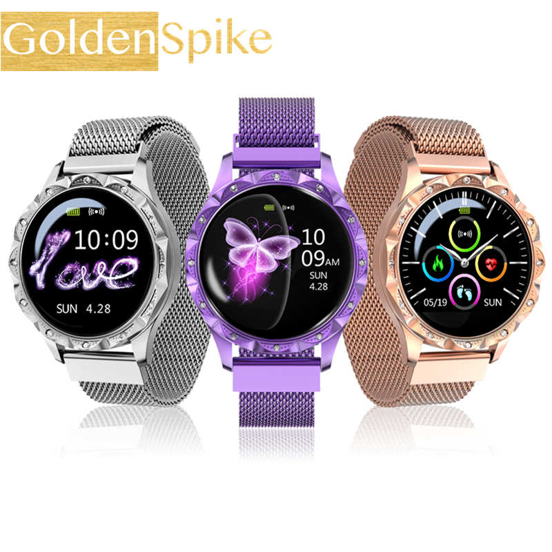 IP67 Waterproof Smart Watch Women Lovely Bracelet Heart Rate Monitor Sleep Monitoring Smartwatch Connect IOS Android PK S3 band