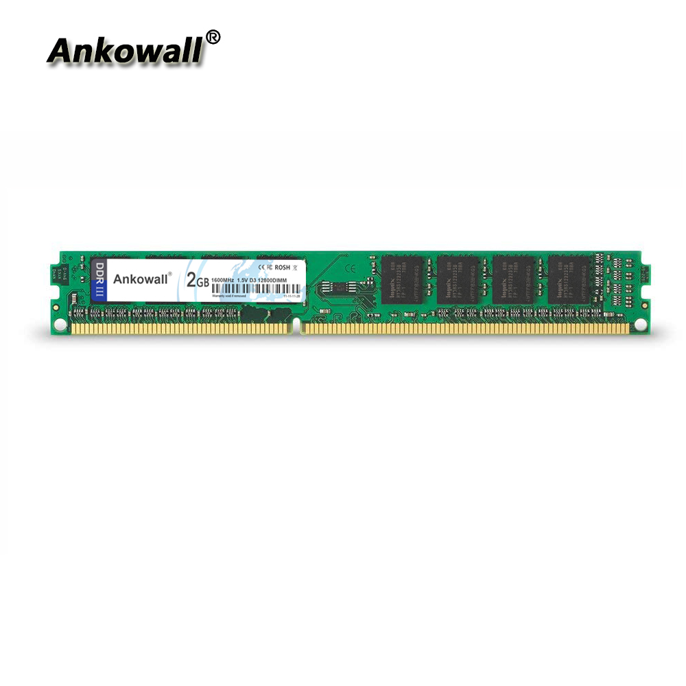 Ankowall DDR3 2GB RAM 1333 1600 No-ECC Desktop PC Memory 240pins System High Compatible image