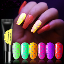 1Pcs Nails Luminous Nail Polish Glue Matt Color Fluorescent Printing Nail Polish Professional Nail Supplies Luminous Nail Glue недорого