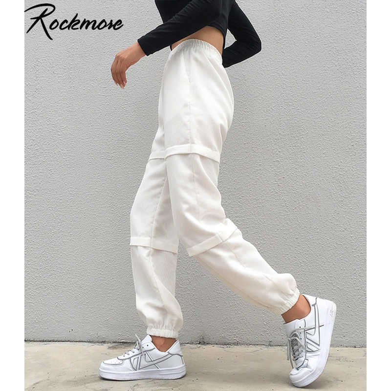Rockmore Harajuku Wide Leg Pencil Pants Women High Waist Trousers Korean Streetwear Warm Pants Plus Size Ladies  Casual Joggers
