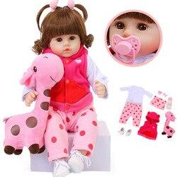 Кукла реборн Мягкая силиконовая для новорожденных, 19 дюймов, 47 см, Реалистичная кукла-младенец с жирафом, игрушки для детей на Рождество