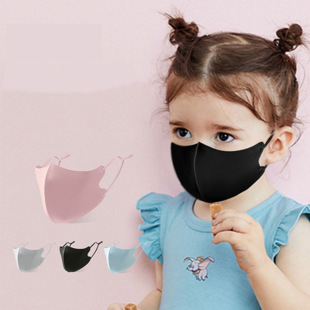 Children Breathing Anti-Haze Mask Breathable Washable Child Kids Mask Solid Color Dust-Proof Mask For Baby Outdoor
