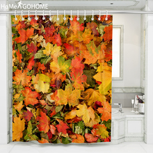 Maple Leaf Print Shower Curtain Bathroom Waterproof Polyester Shower Curtain Leaves 3D Curtains for Bathroom Shower Modern Art все цены
