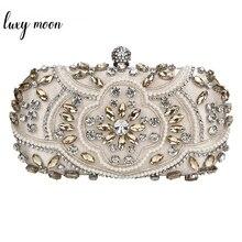 Bruiloft Clutch Bag Vrouwen Silver Clutch Purse Luxe Party Bag Diamond Keten Handtas Clutch Met Strass Bolsa Feminina ZD1336