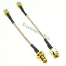 SMA мужчин и SMA мужчин/женщин гайка переборки RG316 коаксиальный кабель перемычка косичка высокое качество