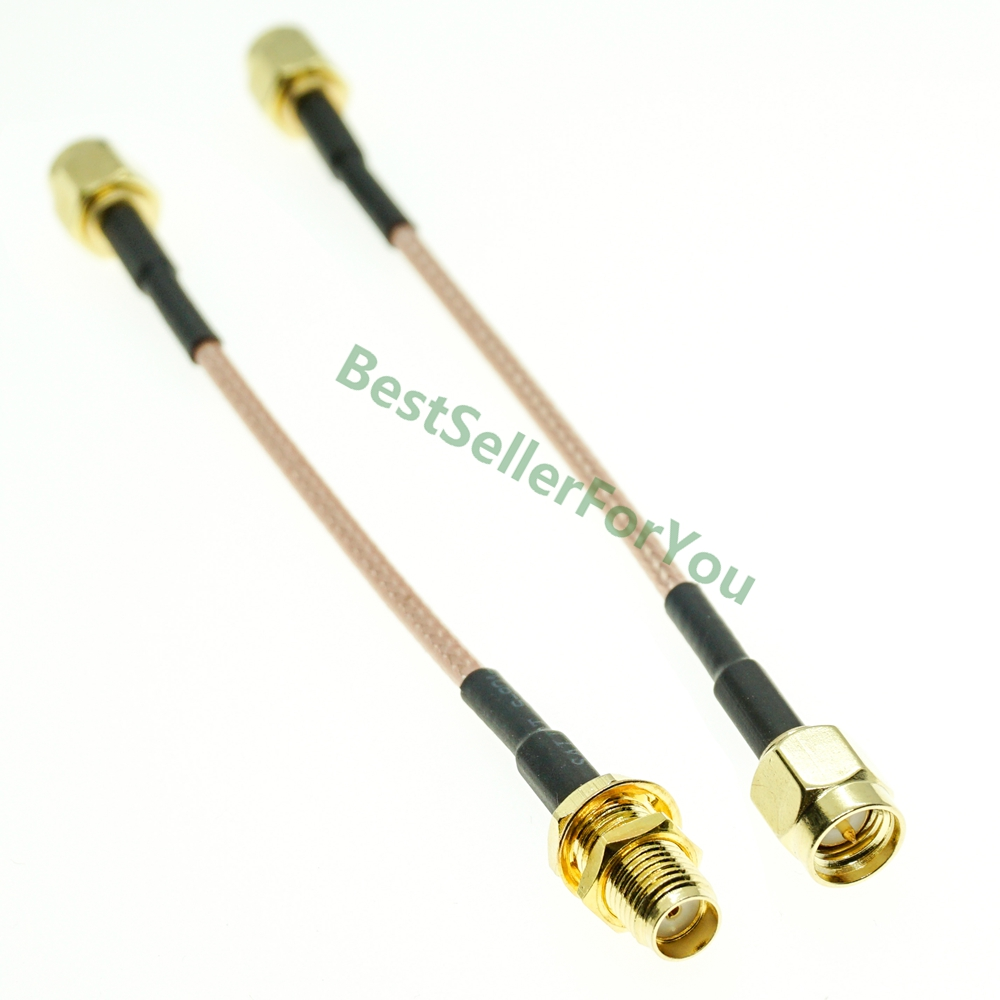 RG316 Cable SMA Male To SMA Male Female Nut Bulkhead Extension Coax Jumper Pigtail