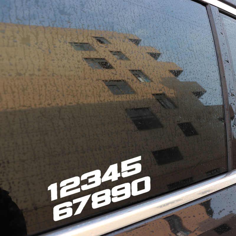 Aliauto eğlenceli telefon numarası 1234567890 motosiklet vinil çıkartması grafik siyah/gümüş yansıtıcı yaratıcı araba Sticker PVC, 15cm * 5cm