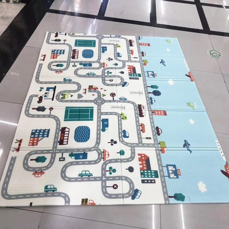 200*150*0,5 см двусторонний детский игровой коврик для ползания складной водонепроницаемый портативный мягкий напольный ковер для малышей