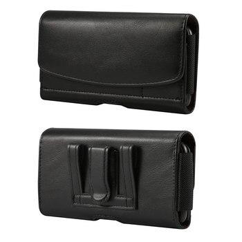 Перейти на Алиэкспресс и купить Чехол-кобура для мобильного телефона OnePlus 8 Pro, чехол для Blackview BV6900, кожаный чехол с зажимом для ремня и держатель для карт Doogee X95