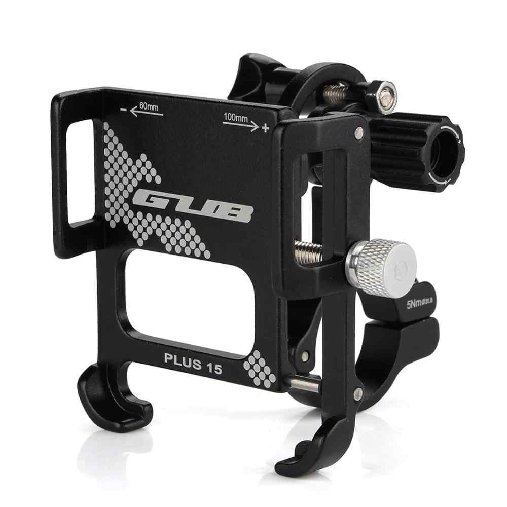 GUB PLUS 15 алюминиевый держатель для телефона для велосипеда MTB руль подставка крепление для электрического велосипеда мотоцикла скутера G81 PLUS 12/6H P40