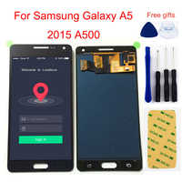 Black Adjustable For Samsung Galaxy A5 2015 A500 SM- A500F A500H A500FU A500M A500FQ DS LCD Display + Touch Screen Assembly
